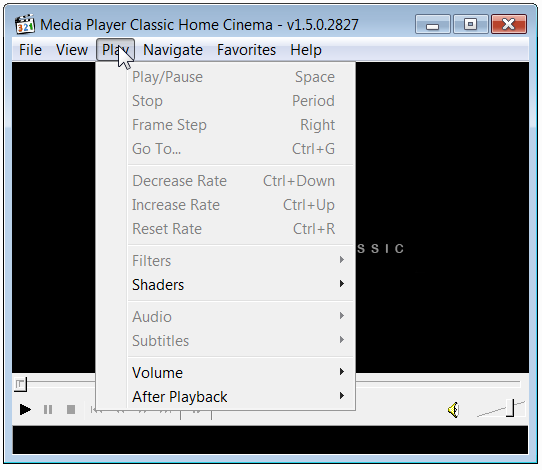 how to play iso files with media player classic