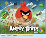 Angry Birds Chrome title screen