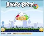 Angry Birds Chrome main screen