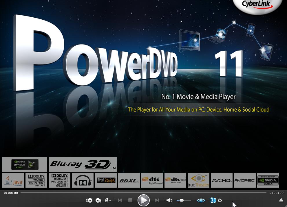برنامج PowerDVD 2012